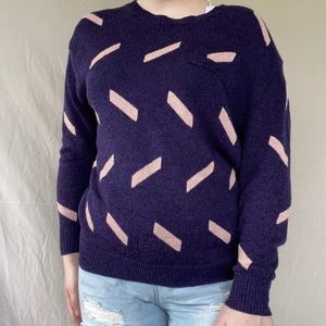 NWT Purple Callahan Patterned Sweater